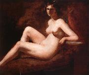 William Etty Reclining Femal Nude with Her Arm on a ledge oil painting